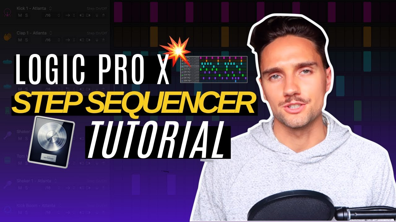 Logic 10.5 Step Sequencer for Drums | Logic Pro X 10.5 Step Sequencer Tutorial Series (Part 1)