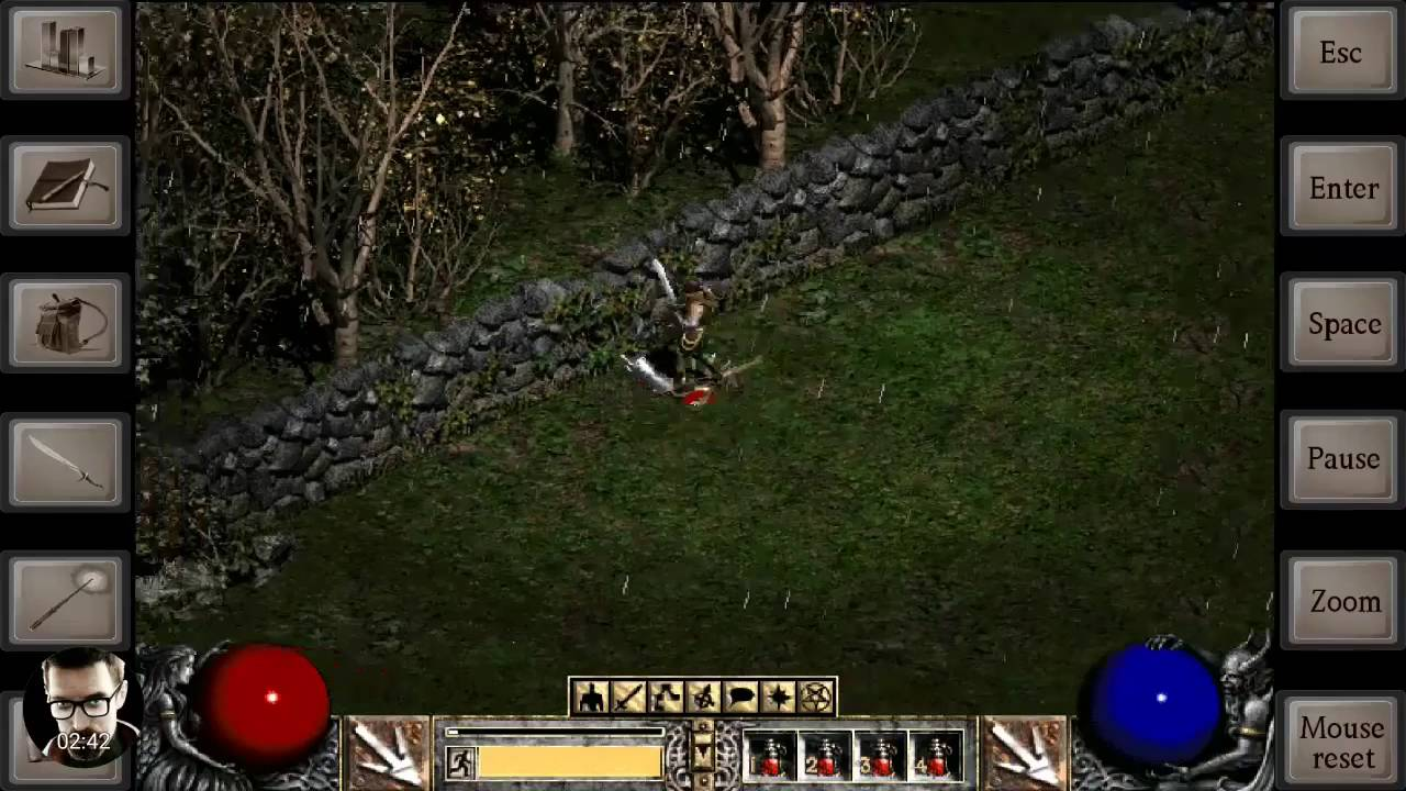 Diablo 2 in Magic Dosbox on S7 Edge Exynos