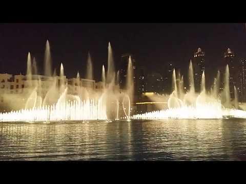 Dubai Water Dancing Fountain Burj Khalifa || World's Best Dancing Water show