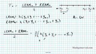 Integration Review Part V Trapezoidal Rule RRAM LRAM MRAM calculus reimann AB sums