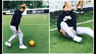 6ix9ine Rolls His Ankle While Trying To Play soccer