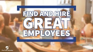 Find and Hire Great Employees | Fine Point Marketing
