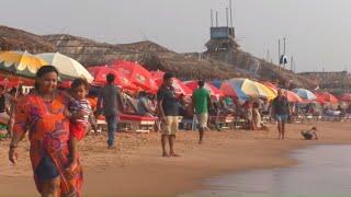 Calangute Beach and Bazaar