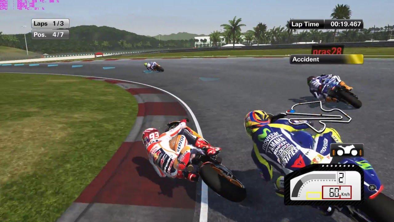 Game Motogp 15 Online Thailand 4 Sepang International Circuit Youtube