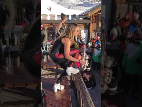Yarden Saxophone Live At La Folie Douce Val Thorens Techno Apres Ski Party