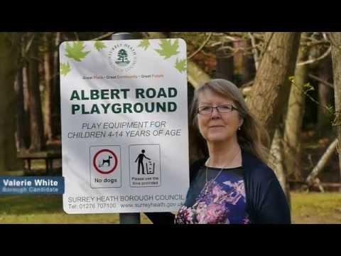 Valerie White at Albert Road Playground