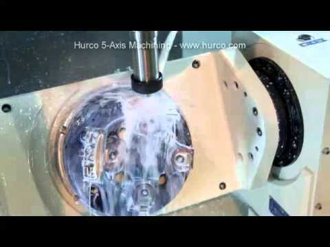 Hurco VMX30Ui Five Axis Vertical Trunnion Type Machining Center - Cervical  Bone Plate Demo