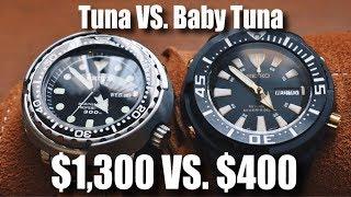 The Seiko Tuna vs. The Seiko Baby Tuna!