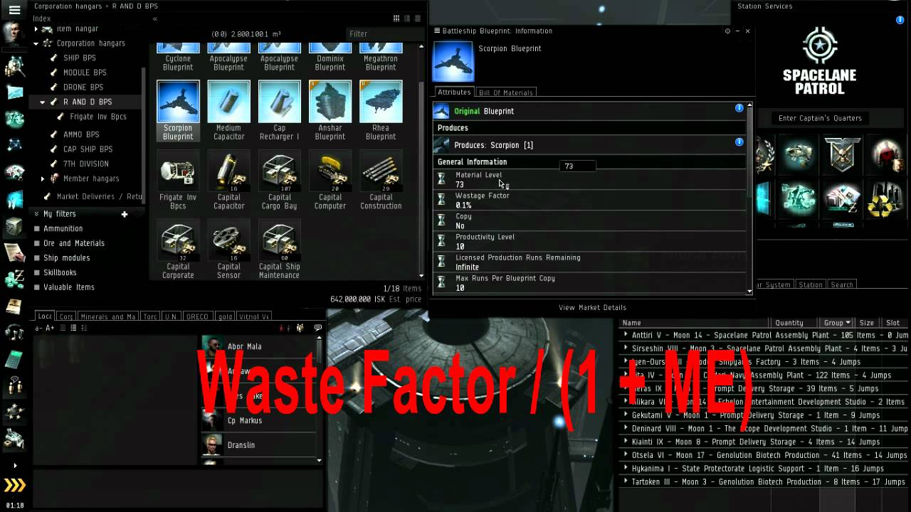 Eve Online Research Lab Tutorial Part 1 4 Blueprint Basics Attributes Waste