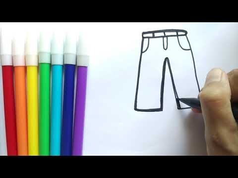 Drawing Long Pants Easy Menggambar Celana Youtube