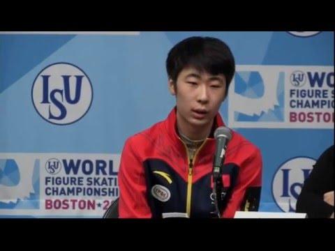 2016 World Figure Skating Championships Men Medalists Press Conference