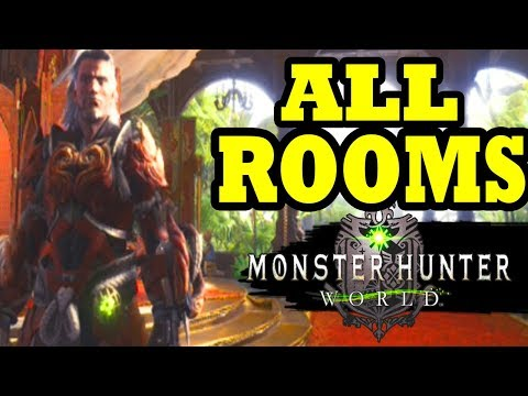 Monster Hunter Worlds - How to Move into A New Room / ALL LIVING QUATERS