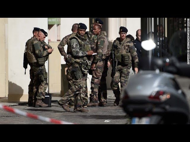 French soldiers hit by vehicle near barracks