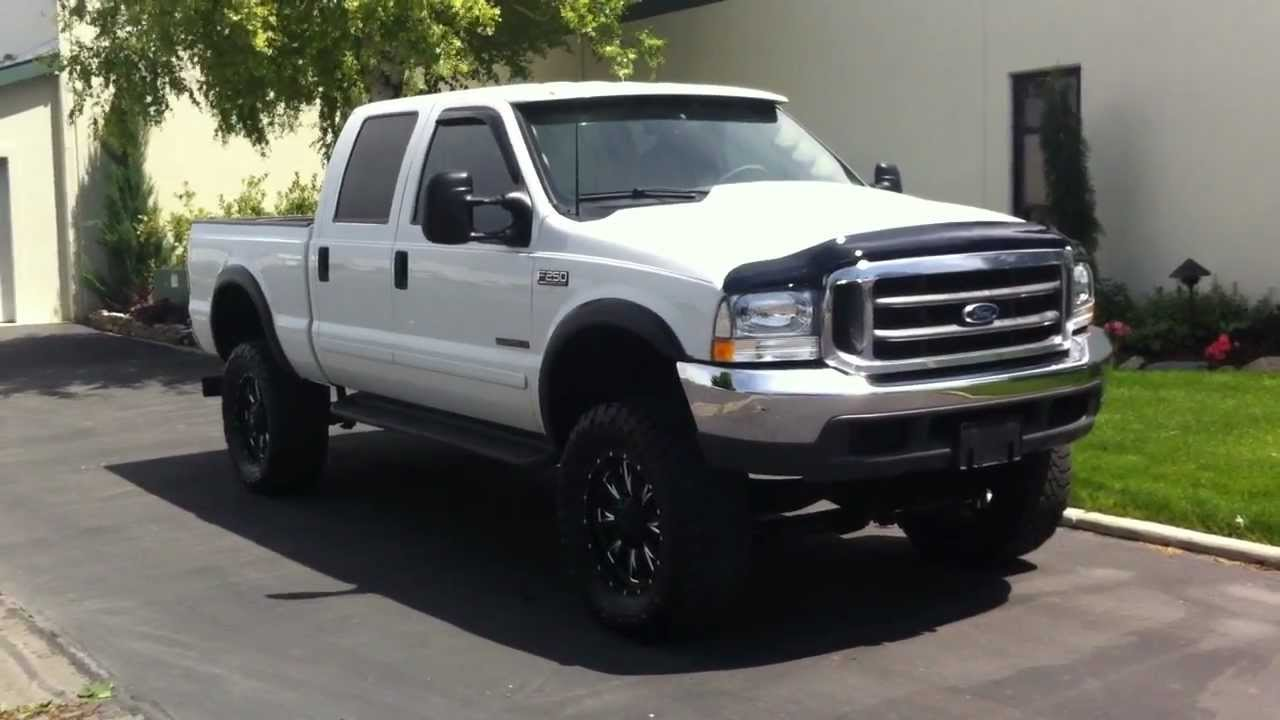 2001 ford f250 crew lariat 4x4 6 inch lift 20 39 sx37 39 s youtube. Black Bedroom Furniture Sets. Home Design Ideas