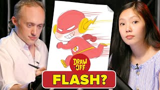 Animator Vs. Cartoonist Draw Justice League Characters From Memory • Draw Off