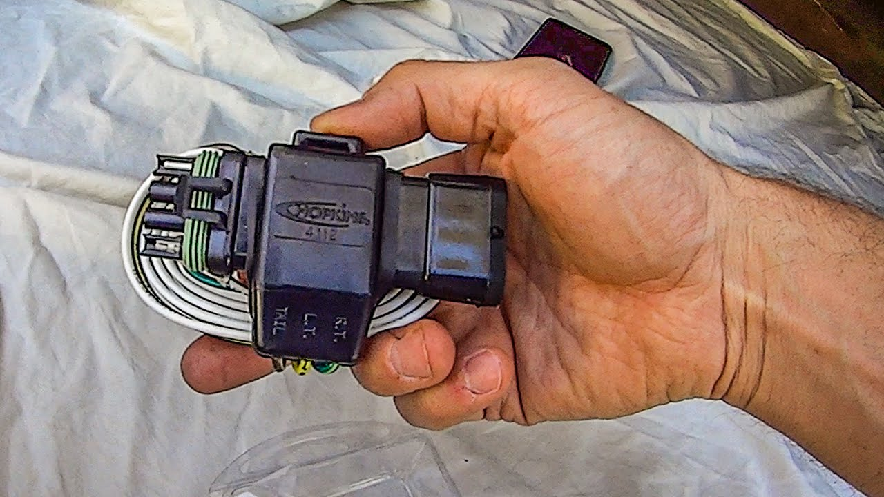 trailer hitch wiring diagram 4 pin 6 din plug uhaul flat harness install youtube