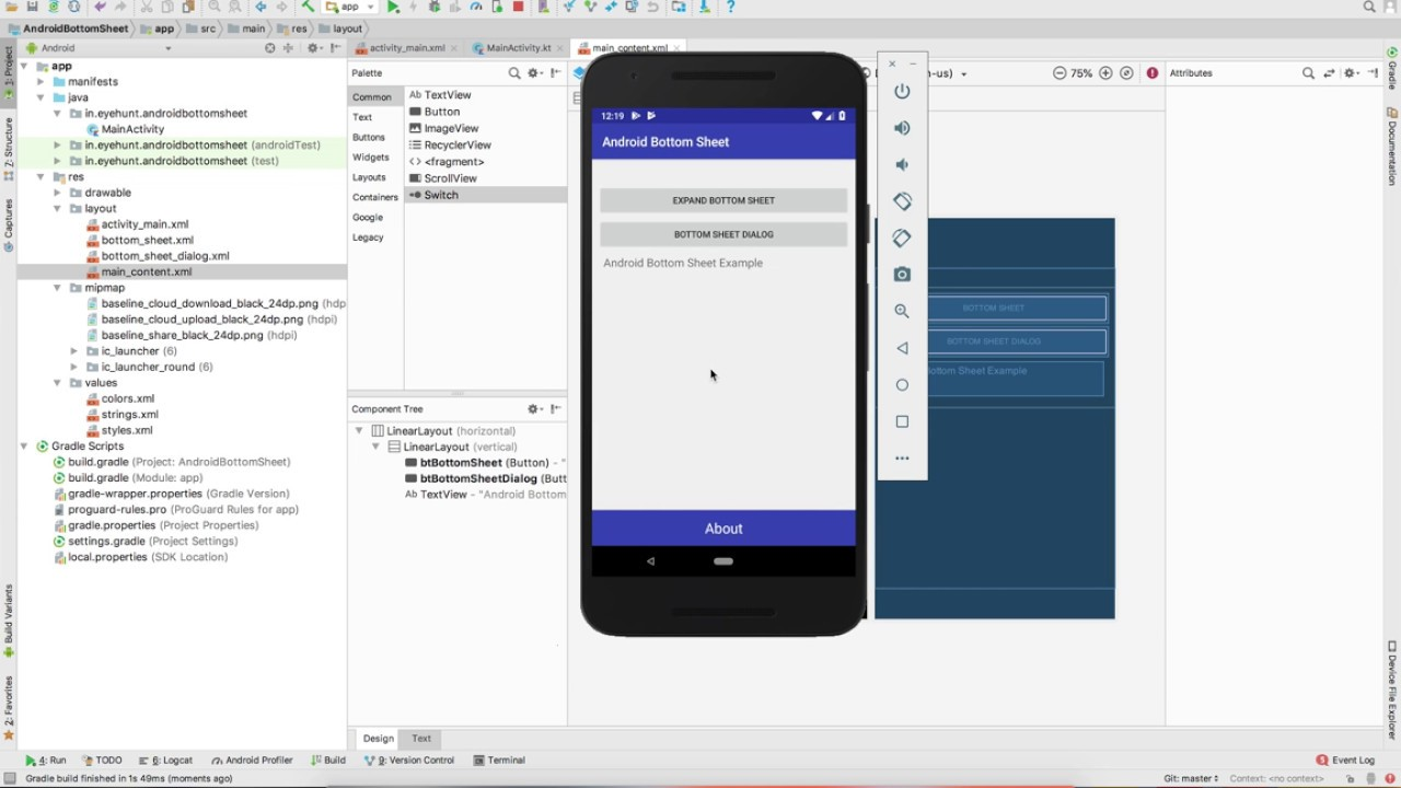 Android Bottom Sheet Tutorial with Example in Kotlin - Eyehunt