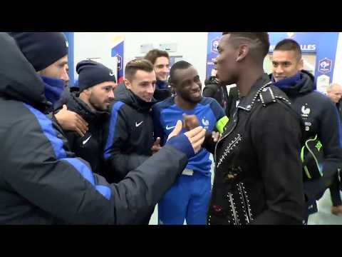 Paul Pogba surprises his France team-mates after the game vs Wales