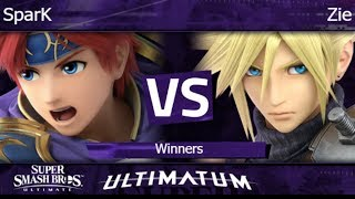 Ultimatum  - SparK (Roy) vs Zie (Cloud) Winners - SSBU
