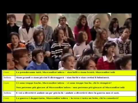 Girotondo di Fabrizio De André  testo per solista e coro (vers. Roberto Vecchioni)