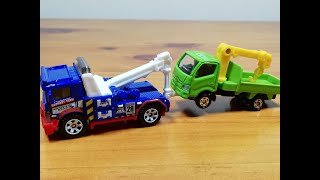 Tow Truck Matchbox / TOMICA / Toy car Hino Tow Truck Unboxing and Compare(2018)