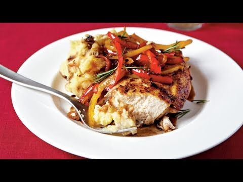 Roast Chicken With Balsamic Bell Peppers Recipe