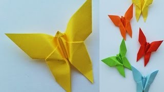 Tutorial Origami Semplici: Farfalle Decorative