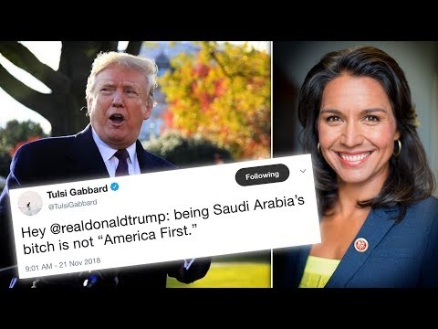 "Trump TORCHED by Tulsi Gabbard for Being ""Saudi Arabia's B***h"""