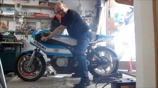 suzuki TR750, testIng the Rollerstarter