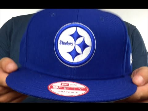 Steelers  TEAM-BASIC SNAPBACK  Royal-White Hat by New Era - YouTube c79bd061c