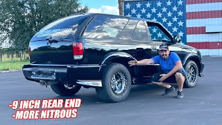 Our LS Swapped Blazer RETURNS... Will This Be Too Much Nitrous?? (Major Upgrades)