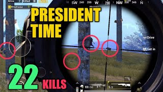 President landing in Military Base | SOLO SQUAD | 22 KILLS | PUBG Mobile