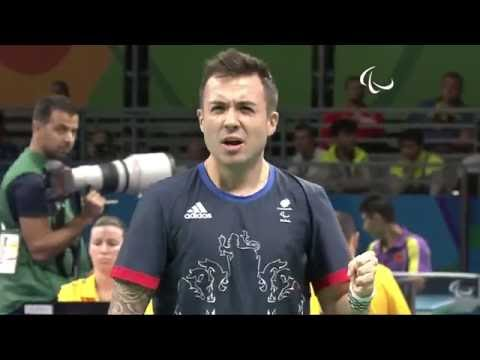 Table Tennis | Great Britain v Spain | Men's Singles- Class 7 Semifinal 1| Rio 2016 Paralympic Games