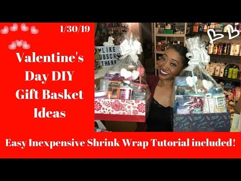 Easy Inexpensive Valentines Day DIY Gift Ideas 1/30/19~Dollar Tree Shrink Wrap Tutorial Included!