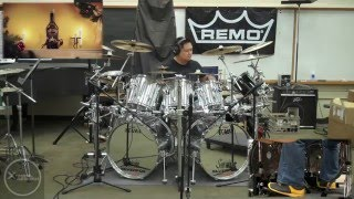DRUMS ONLY Text Me Merry Christmas by Straight No Chaser Ft. Kristen Bell Drum Cover by Myron Carlos