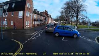 Devizes, Wiltshire  junction near miss. From