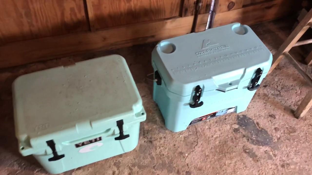 Yeti Roadie 20 Versus Ozark Trail Cooler Ice Test Review