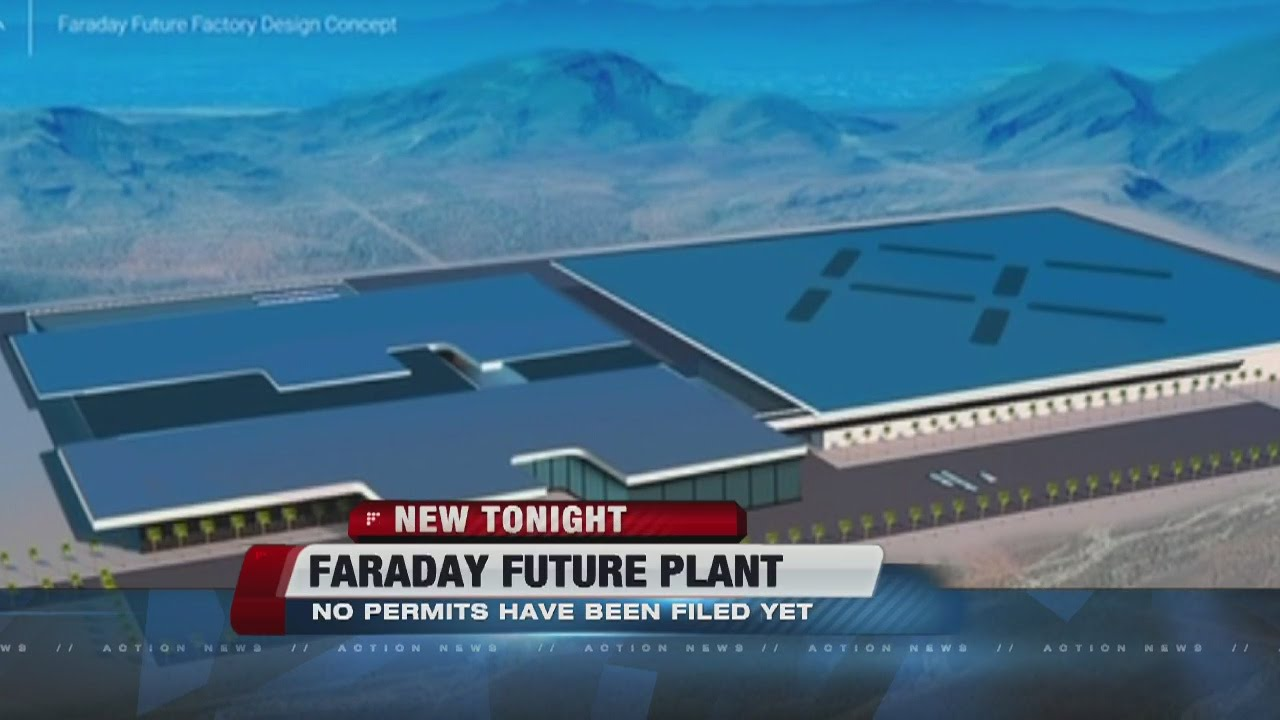No permit filed for faraday electric car plant youtube for Auto paint shop las vegas