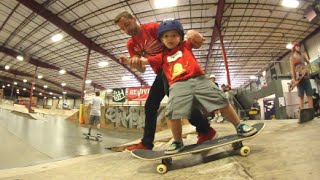 father son skate camp time