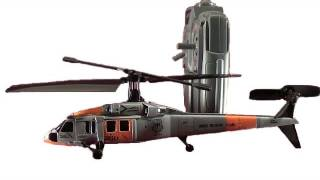 Silverlit Black Hawk Deluxe RC helicopter review.  With SH60B seahawk canopy