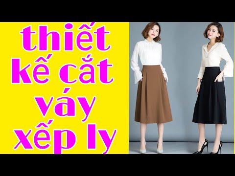 12.thiết kế váy xếp ly pleated skirt design đam mê may vá Thủy vũ