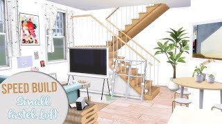 The Sims 4 Speed Build | SMALL PASTEL LOFT + CC Links