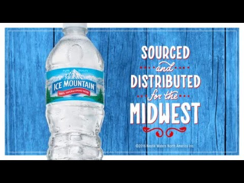 Ice Mountain Water: 100% Natural Spring Water, Sustainably Sourced for the Midwest