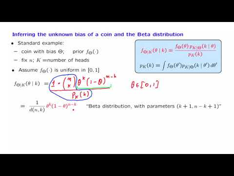 L14.8 Inferring the Unknown Bias of a Coin and the Beta Distribution