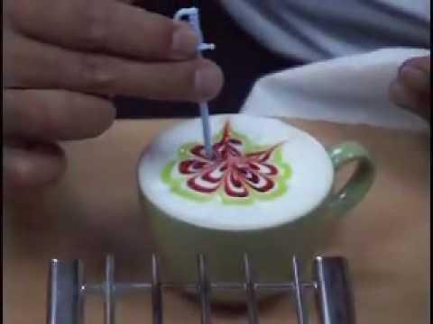 Vẽ hoa văn trên café