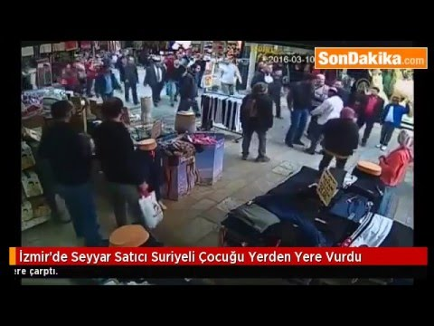 Crime Against Kurds: Fascist Turkish Man Beating Syrian Kurdish Child