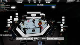 Roblox UFC 12 Liliardio vs Manchester Pre-