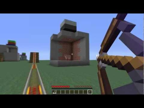 Minecraft мини-игра Стрельба из вагонетки