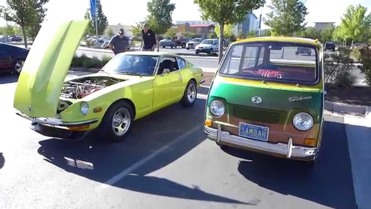 Vintage Japanese tin dominates Cars and Coffee PDX