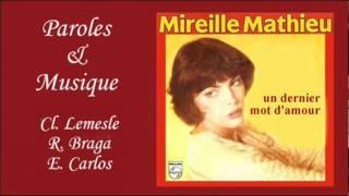Un dernier mot d'amour - Mireille Mathieu